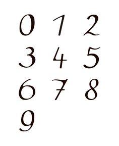 SPEAKEASY FONT Number