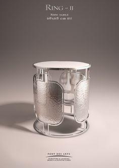 Ring -II- Side table - Designer MONZER Hammoud - Pont des Arts Studio - Paris