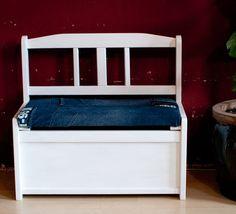 kindersitzbank restauriert Toy Chest, Storage Chest, Cabinet, Furniture, Home Decor, Restore, Banquette Bench, Kids, Clothes Stand
