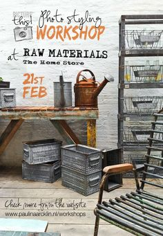 Are you a fan of a natural, rustic, industrial and ethnic style combinations? Next PICTURE THIS! Photo Styling workshop go to the amazing Raw Materials - The Home Store in Amsterdam!  You can't miss this one! Now also Planning and Editing options - check more from the website