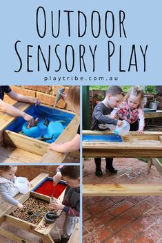 Keen to learn more about Sensory Play? Head to the latest event page to secure your ticket now! Kids Learning Activities, Sensory Activities, Infant Activities, Sensory Play, Outdoor Play Equipment, Fun Outdoor Games, Outdoor Activities, Outdoor Learning, Sand And Water Table