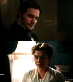 North and South. Love this mini-series so, so much. The cast, sets, music...it's all perfect. And the train scene is one of the most beautiful things ever. It's always just as good as it was the first time I saw it. :)