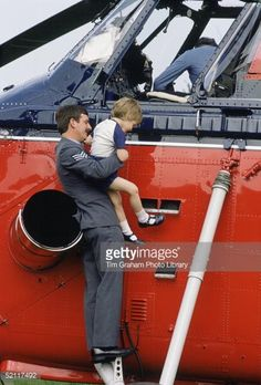 Prince William Being Helped Down From Royal Flight Helicopter By... News Photo | Getty Images