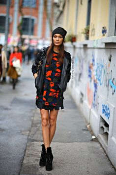 Joan Smalls after Fendi, Milano,February 2014