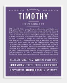 Timothy   Classic Name Print