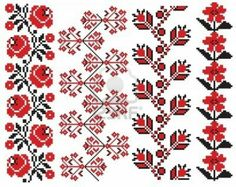 Folk Embroidery Patterns romanian embroidery patterns - - Millions of Creative Stock Photos, Vectors, Videos and Music Files For Your Inspiration and Projects. Embroidery Motifs, Cross Stitch Embroidery, Machine Embroidery, Embroidery Designs, Flower Embroidery, Cross Stitch Borders, Cross Stitching, Cross Stitch Patterns, Palestinian Embroidery