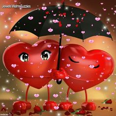 Is rainin HEARTZ