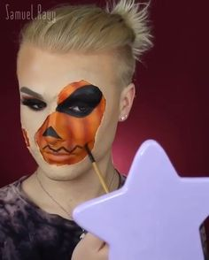 Samuel-O-Lantern🎃🤡 Halloween Makeup halloween makeup videos Halloween Makeup Videos, Haloween Makeup, Creepy Halloween Makeup, Halloween Tags, Scary Makeup, Costume Makeup, Halloween Costumes Women Scary, Robot Makeup, Amazing Halloween Makeup