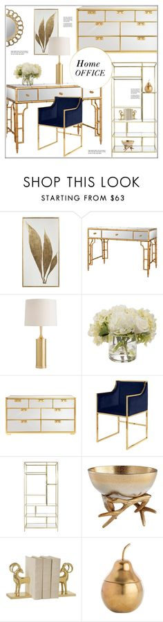 """""""Home Office"""" by kathykuohome ❤ liked on Polyvore featuring interior, interiors, interior design, home, home decor, interior decorating, home office, Home, homedecor and homeoffice"""