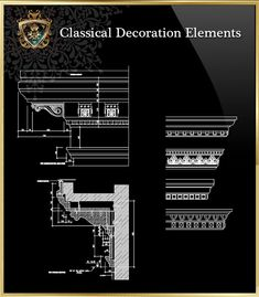 ☆【Classical Decoration Elements 16】Download Luxury Architectural Design CAD  Drawings  Over