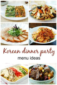 Planning holiday gatherings with family and friends? Here are some Korean dinner party ideas: a small dinner, a more elaborate dinner for a large group, a vegan dinner, and a street food party! dinner party Menus for Korean Dinner Parties - Korean Bapsang Dinner Party Menu, Dinner Party Recipes, Dinner Parties, Muesli, Slimming World, Paleo, Brunch, Korean Dishes, Chicken Soup Recipes
