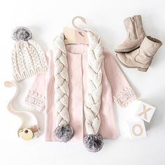 The sweetest outfit inspo for the bebe on this chilly morning! ☁️ thanks for including our XO blocks @amzhome