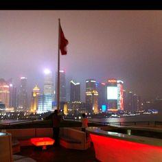 Bar rouge Shanghai - vue sur Pedong
