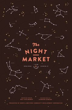 Women of Graphic Design - Mary Galloway (Brooklyn) Night Market Poster...