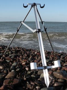 Surf Fishing, Fishing Tips, Diy Fishing Rod Holder, Parrilla Exterior, Fish Stand, Double U, Pole Holders, Salt And Water, Long Legs