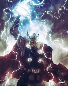 #marvel #marvelcomics #marveluniverse #thor #sonofodin #lightning by devilzsmile.com #devilzsmile