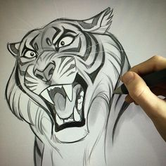 Mreow!  #art #artist #artwork #artstagram #tiger #vixiearts #draw #draws #drawing #illustration #2d #digitalart #sketch #feline #bigcat