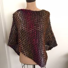 Anthropologie poncho Multi colored knit poncho from Anthropologie. One size. Used condition Anthropologie Sweaters Shrugs & Ponchos