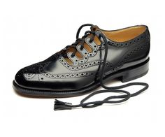 The Ghillie brogue has long been part of traditional formal Scottish dress and these are worn primarily for social occasions. Gillie brogues feature long laces that wrap around the leg above the ankle and tie below the calf. Our ghillie brogues feature b Me Too Shoes, Men's Shoes, Shoe Boots, Dress Shoes, Ghillie Shoes, Men's Wedding Shoes, Shoes 2014, Best Shoes For Men, Black Polish