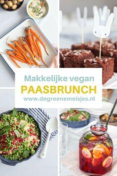 Recepten en tips voor een makkelijke vegan Paasbrunch: gezond en feestelijk paasbrunchPaas Vegan Snacks, Vegan Recipes, Lactose Free, Salad Bowls, I Foods, Vegan Vegetarian, Foodies, Clean Eating, Food And Drink