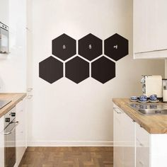 Buy Black Hexagon Wall Sticker Waterproof Wall Decal Removable Wall Tattoo + Free Shipping