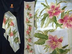 #pashmina.#silk painting.#flowers.#art