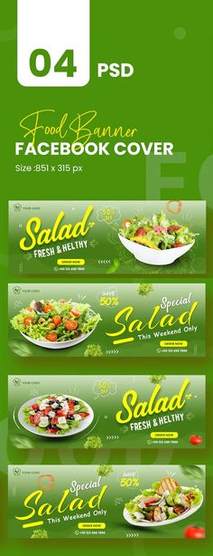 Healthy Food Facebook Cover Template PSD