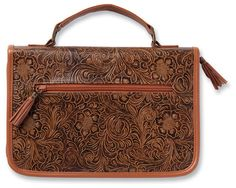 Western Tooled Bible Cover, Large