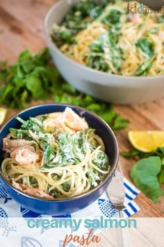 This creamy salmon pasta is so quick to make!  The pasta boiling time plus stir through time is all you need to create a delicious and fresh family dinner! #kidgredients #onepot #pasta #salmon #familydinner #creamypasta Creamy Salmon Pasta, Lemon Pasta, Family Meals, Kids Meals, Pasta Recipes For Kids, Seafood, Lunch, Fresh, Dinner
