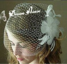 CIMC LLC Women White Feather Flower Bridal Wedding Birdcage Face Veil Headpiece Hair Clip -- You can get more details by clicking on the image.(This is an Amazon affiliate link and I receive a commission for the sales)