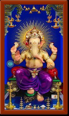 Ganesh Images, Ganesha Pictures, Happy Birthday Husband Cards, Ganesh Wallpaper, Lord Krishna Wallpapers, Shiva Shakti, Goddess Lakshmi, Hindu Deities, Lord Ganesha
