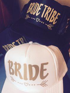 4d117b94 Bride Tribe Hats / Bachelorette Party / Bridal Party / Bride to Be /  Bridesmaids / Bride Crew Team Bride / Bridesmaid Gift- FREE BRIDE Hat