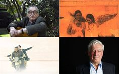 Best Latin American novels of all time (clockwise from top left): Gabriel García Márquez; The House of the Spirits by Isabel Allende; The Motorcycle Diaries by Ernesto Che Guevara; Mario Vargas Llosa