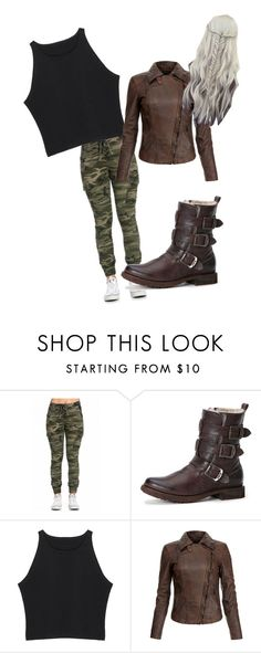 """""""Hunt"""" by juliodauntless on Polyvore featuring Frye, MuuBaa, women's clothing, women, female, woman, misses and juniors"""