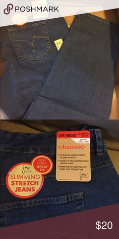 61b2a8495be NWT JMS Classic Jeans Sz 16 W Short These jeans have just the right amount  of · Just My SizeJust ...