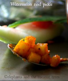 elephants and the coconut trees: Watermelon rind pickle / watermelon rind achar with step by step pictures / Summer pickle / Kerala style pickle