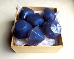 Starry Night Lavender Soap Jewels (Organic) by LovelyBody via Etsy