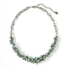 Simply Vera Vera Wang Jet Bead Cluster Necklace ($26) ❤ liked on Polyvore featuring jewelry, necklaces, bead necklace, cluster necklace, bead jewellery, cluster jewelry and simply vera