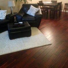 """Looks great and was easy to install...I love this floor."" [Golden Teak Acacia]"
