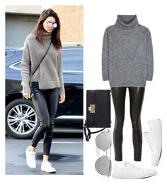 """Get The Look: Kendall Jenner"" by fashion4life2100 ❤ liked on Polyvore featuring J Brand, Yves Saint Laurent, Converse and Jimmy Choo"