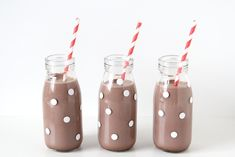 DIY Polka Dot Hot Cocoa Bottles