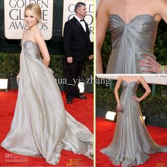 Buy cheap Dianna Golden Globes 2010 Red Carpet Pagent Dress A Line Sweetheart Beaded Ruched Chiffon Long Gowns with $123.2-134.4/Piece|DHgate