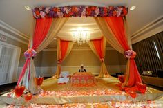 indian-wedding-ceremony-mandap-decor-floral http://maharaniweddings.com/gallery/photo/2834