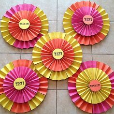Double Layered Paper Rosettes
