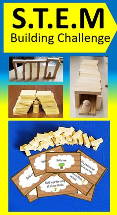 If you have wooden blocks at home your kids will love these STEM activities.  Encourage kid's love of creating and building.  For this STEM challenge, all you need are small wooden blocks. Various challenges encourage kids to create specific structure/objects.  #stemactivitieselementary #stemactivities #stemactivitiesforkids #stemchallenges #summerbucketlist #summerwithkids #kidsactivities #kidsactivitiesathome #woodenblocks #buildingblocks #buildingblockskids #buildingblocksideas Kids Activities At Home, Hands On Activities, Preschool Activities, Summer Activities, Kids Crafts, Learning Activities, Kids Learning, Teaching Resources, Teaching Ideas