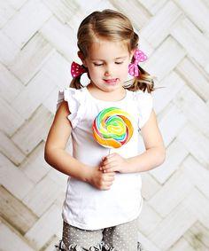 White Angel-Sleeve Tee - Infant, Toddler & Girls
