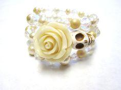 Day Of The Dead Bracelet Sugar Skull Wedding by sweetie2sweetie, $25.99
