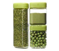 фото Контейнер для сыпучих продуктов Tricon 3шт.(зеленые), Ёмкости для хранения