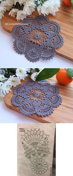 20 New Ideas Crochet Mandala Chart Lace Doilies Crochet Dollies, Crochet Doily Patterns, Thread Crochet, Crochet Motif, Crochet Crafts, Crochet Flowers, Crochet Stitches, Crochet Projects, Crochet Ideas