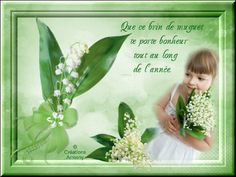 1er Mai Fête du Muguet 2 - Créations Armony Cute Girl Image, Girls Image, Cute Girls, Creations, May 1, Lucky Charm, Lily Of The Valley, Spring, Sweet Girls